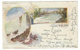 Etats-Unis // New York // Chutes Du Niagara (litho) - NY - New York
