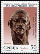Serbia. 2012. Joint Issue Serbia-Slovakia: Jan Koniarek (MNH OG **) Stamp #DLC.ST-000830 - Serbia