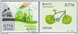 Lithuania,Lietuva ,Litauen.Lituanie  2016. MNH Europa Cept Cycling Bycicle Think Green Set - Lituanie