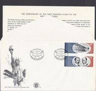 1978 - Bophuthatswana - ( Bantustan ) - Orville And Wilbur Wright - Mi:ZA-BP 33_34 - FDC - Bophuthatswana