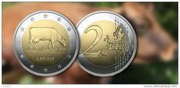 COW, KUH, Mucca 2016 LETTLAND Latvia Gedenkmünze COIN 2 €  UNC - Letland