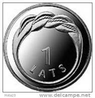 Latvia / Lettonia THE  RING - NAMEJA 1 LATS - LION & DRAGON  2009 Y - UNC - Letland
