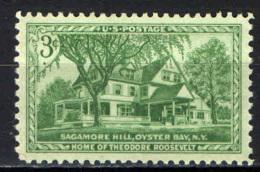 STATI UNITI - 1953 - LA CASA DI THEODORE ROOSEVELT A OYSTER BAY - NUOVO MNH - United States