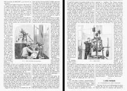 LA BALANCE DYNAMOMETRIQUE Du Colonel RENARD  1905 - Sciences & Technique