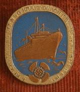 Germany,Reichstagung Der NSG Kraft Dur Freude Hamburg 9-12. 6. 1938. Lederplastik Badge / Pin / Broch -  Before WWII - Army