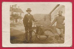 Carte Photo Xamontarupt - Deux Hommes à Coté D'un Tricycle - Autres Communes