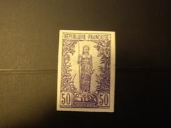 COLONIE  CONGO 1900  ESSAI Papier Carton  Non Dentelé - French Congo (1891-1960)