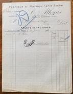 PARIS L.ATHYAS   FABRIQUE DE MAROQUINEIRE RICHE  Fattura  Del 1920 - 1900 – 1949