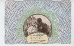 FEMMES - FRAU - LADY - Jolie Carte Fantaisie Avec Ajoutis Couple Amoureux , Vers D' Alfred De Musset - Women
