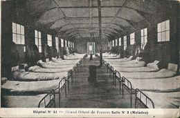 FRANC Maçonnerie,Hôpital No31,salle No 3,MALADES De TOULOUSE -GRAND ORIENT DE FRANCE - Sonstige