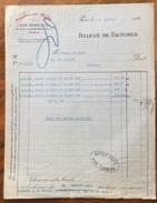 PARIS ALLUMEURS ROBJ Di JEAN BORN & C.  CERAMICHE DI PREGIO  Fattura  Del 1920 - Francia