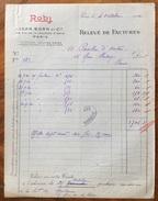 PARIS  ROBJ Di JEAN BORN & C.  CERAMICHE DI PREGIO  Fattura  Del 1920 - Francia