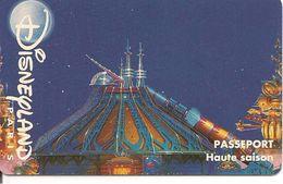 PASS-DISNEYLANDPARIS -1996-SPACE MOUNTAIN-ADULTE-V° N° S 039523 VERTICAL A Droite-TBE- - Pasaportes Disney