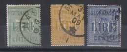 ITALIE   Taxes       N°s  20 (1884),25,26 (1903)     SASS N°s 15, 31 ,32 - 1900-44 Victor Emmanuel III