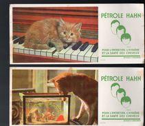"""Lot De 2 Buvards PETROLE HAHN """"chats"""" (PPP5536) - Buvards, Protège-cahiers Illustrés"""