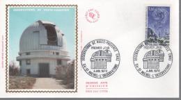 France - FDC 1er Jour - Observatoire De Haute Provence - 4 Juil 1970 - FDC