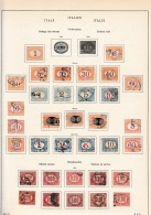 Italy    .            Page With Stamps - 1900-44 Victor Emmanuel III.