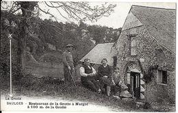 SAULGES 53 MAYENNE RESTAURANT DE LA GROTTE A MARGOT  A 100 METRES DE LA GROTTE  EDIT. MFIL ECRITE CIRCULEE 1935 DOS VERT - France