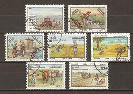 Afghanistan - 1984 - Farmer's Day - Journée Du Cultivateur - Série Complète ° - Sc 1061/67 - Vache - Agriculture - Afghanistan