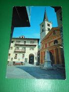 Cartolina Valtournanche - Piazzadelle Guide - Chiesa E Campanile 1960 Ca - Italy