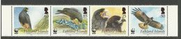 FALKLAND ISLANDS  2006  WWF  STRIATED CARACARA  STRIP  MNH - Birds
