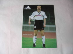 Footbal - Equipe D'Allemagne - Matthias Sammer - Calcio
