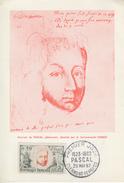 Carte  Maximum   1er   Jour     Blaise   PASCAL    CLERMONT  FERRAND    1962 - Maximumkaarten