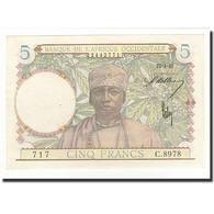French West Africa, 5 Francs, 1942-04-22, KM:25, NEUF - États D'Afrique De L'Ouest
