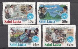 St. Lucie 1983 Mi. Nr.:602-605 Weltkommunikationsjahr  Neuf Sans Charniere / Mnh / Postfris - St.Lucie (1979-...)