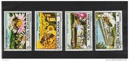 1987  - APICULTURE EN ROUMANIE  MI No 4407/4410 Et Yv 3771/3774 - 1948-.... Républiques