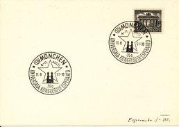 Germany Card ESPERANTO Congress In München 11-8-1951 With Nice Postmark ESPERANTO - Esperanto