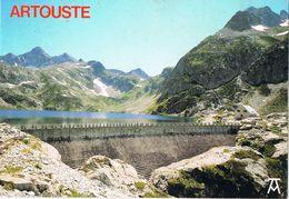 24831. Postal LAC D' ARTOUSTE (Laruns) Pyrenées Atlantiques. Hotel Et Barrage - Laruns