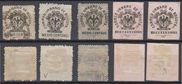 Colombia 1889-1903 BOGOTA Local Issue 5 Stamps Mint + Used - Colombia