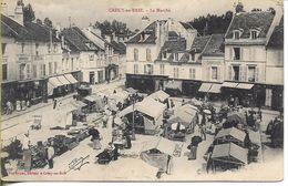 CPA De 1904 : Crécy-en-Brie (77) - Le Marché - Sonstige Gemeinden