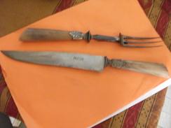 Ancien Courvert A Gigot, En Corne , Marque 76 Veritable Bernard - Dishware, Glassware, & Cutlery