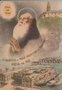 12613) GENOVA S FRANCESCO DI PAOLA PROTETTIORE MARINAI VIAGGIATA 1957 PORTO - Genova (Genoa)