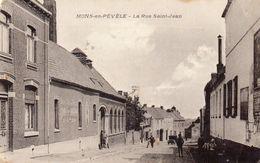 59 CPA MONS EN PEVELE LA RUE SAINT JEAN - France