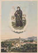 12612) GENOVA S FRANCESCO DI PAOLA SANTO E PANORAMA CITTA' NON VIAGGIATA - Genova (Genoa)