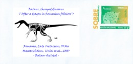 """SPAIN, 2017 Dinosaurs - Balaur, Theropod Dinosaur (""""After A Dragon In Romanian Folklore"""")  Romania - Stamps"""