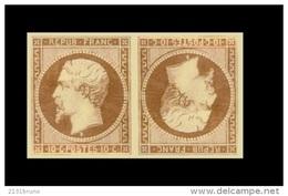 Faux LOUIS NAPOLEON N°9 Bistre Jaune Tête Bêche  Lire Détails - 1852 Louis-Napoleon