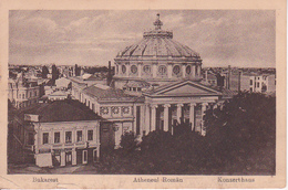 PC Bukarest Bucharest București - Atheneul Romàn - Konzerthaus - Feldpost 1918 (29493) - Rumänien