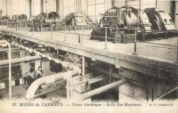 MINES DE CARMAUX USINE ELECTRIQUE SALLE DES MACHINES - Carmaux
