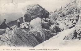 Aufstieg Zum Säntis - Karrenfeld - Animiert - 1916 - Nicht Häufig       (P-62-40720) - AI Appenzell Inner-Rhodes