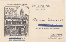 Lausanne - Pharmacie Internationale - Carte Pubbl.       (P-62-40720) - VD Vaud