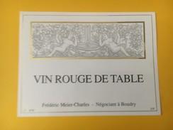 4369 - VinRouge De Table Suisse - Etiquettes
