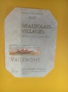 4373 - Vallemont 1992 Beaujolais-Villages - Beaujolais
