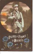 CPA Patriotique - FLEURS DE FRANCE LES BLEUETS - Patriotiques
