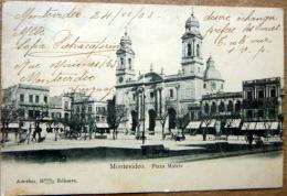 URUGUAY  MONTEVIDEO PLAZA MATRIZ  CACHETS ET TIMBRES - Uruguay
