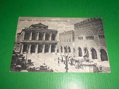 Cartolina Rimini - Piazza Cavour Coi Nuovi Palazzi Comunali E Teatro 1931 - Rimini