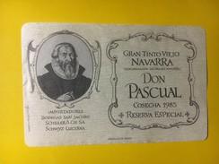 4386 - Don Pascual 1985 Navarra Espagne - Etiquettes